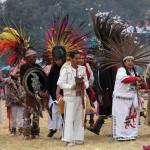 Acambay, Mex.-  Ceremonia inaugural del XXVI Festival del Quinto Sol en la zona arqueológica de Humango. Alonso Gómez Jaramillo / IMC (DIGITAL)  NO ARCHIVAR - NO ARCHIVE